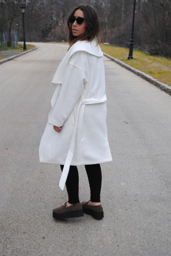 oversized white coat