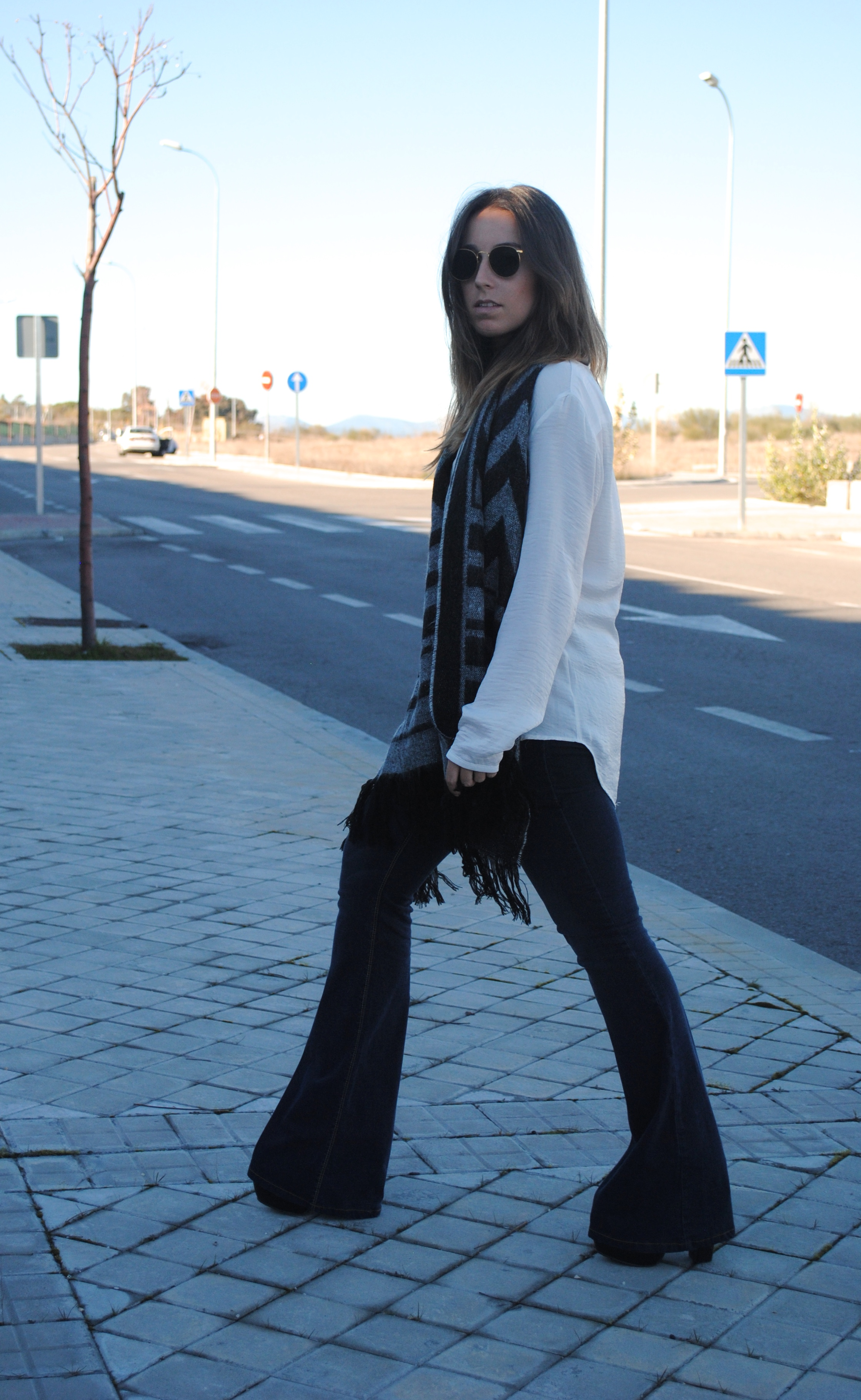boho chic winter outfit