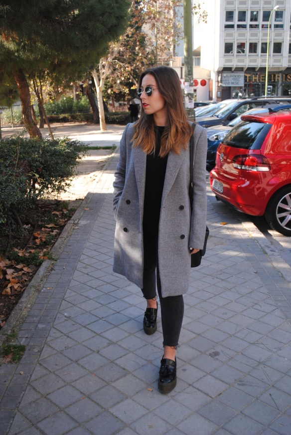 grey longline coat