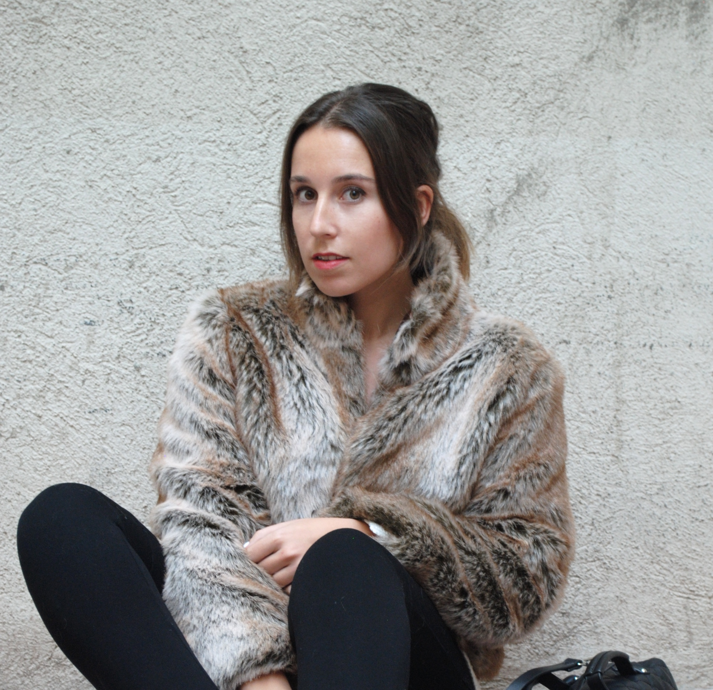 faux fur brown jacket