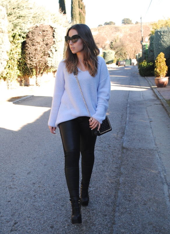 baby blue chunky sweater