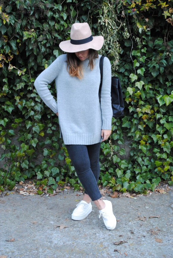 oversized grey sweater