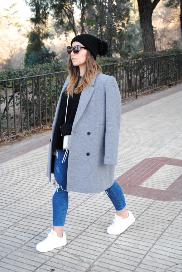 abrigo gris oversized