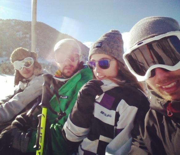 friends ski trip