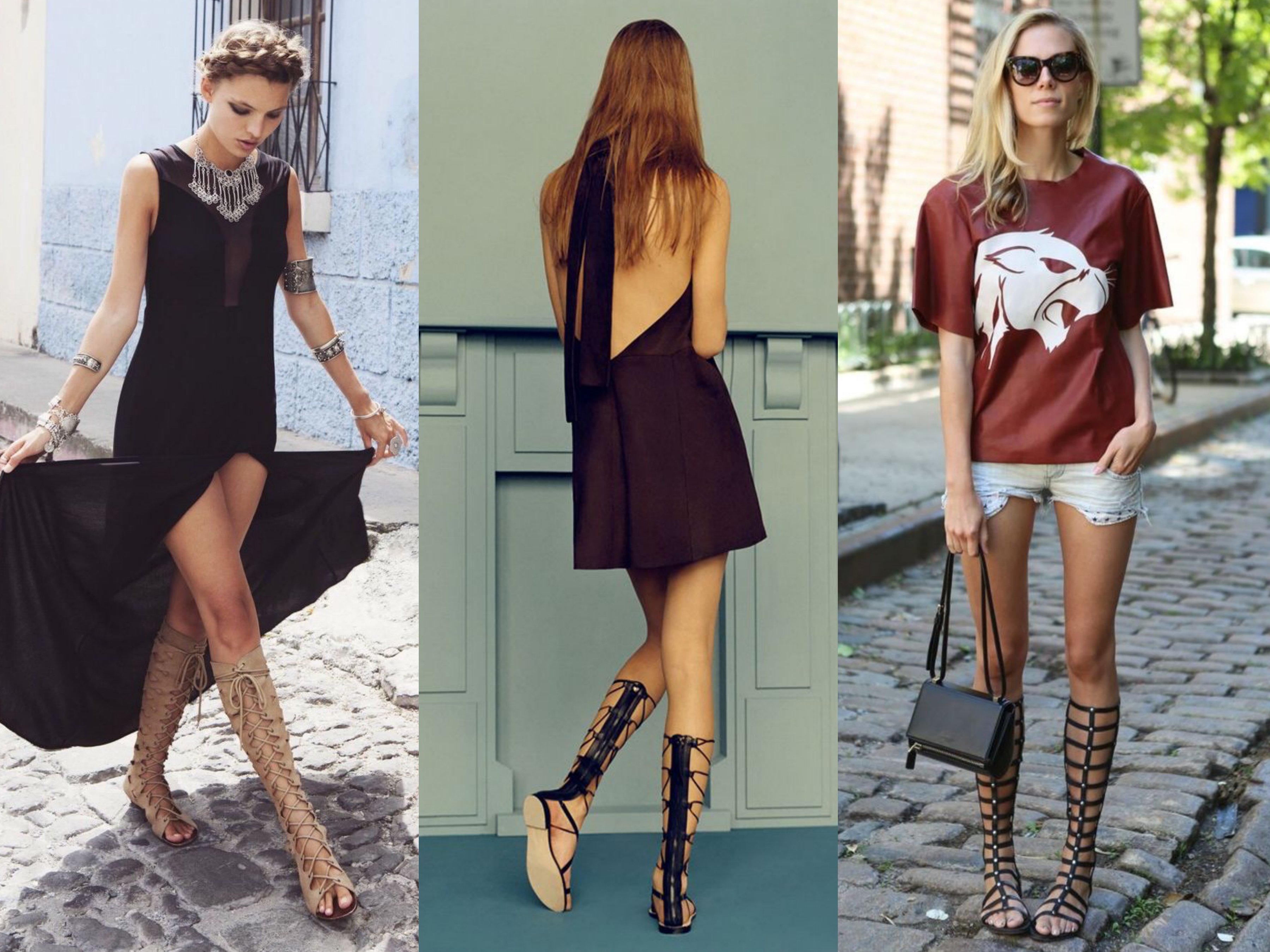 gladiator sandals outfits