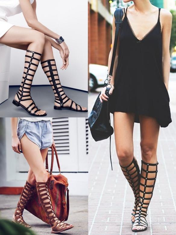 sandalias altas gladiador