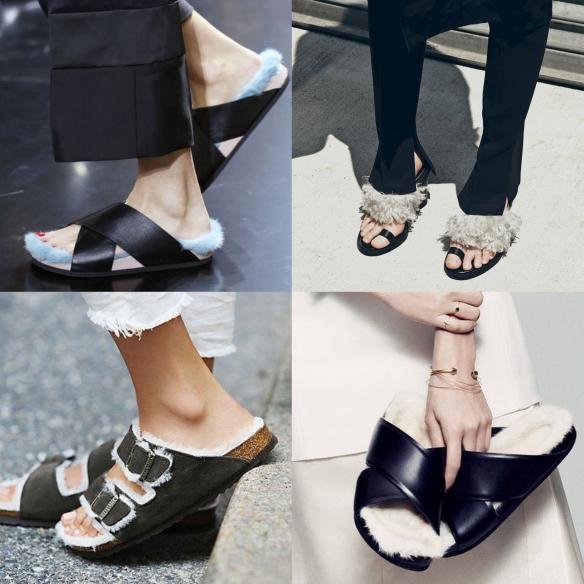 cozy flat sandals