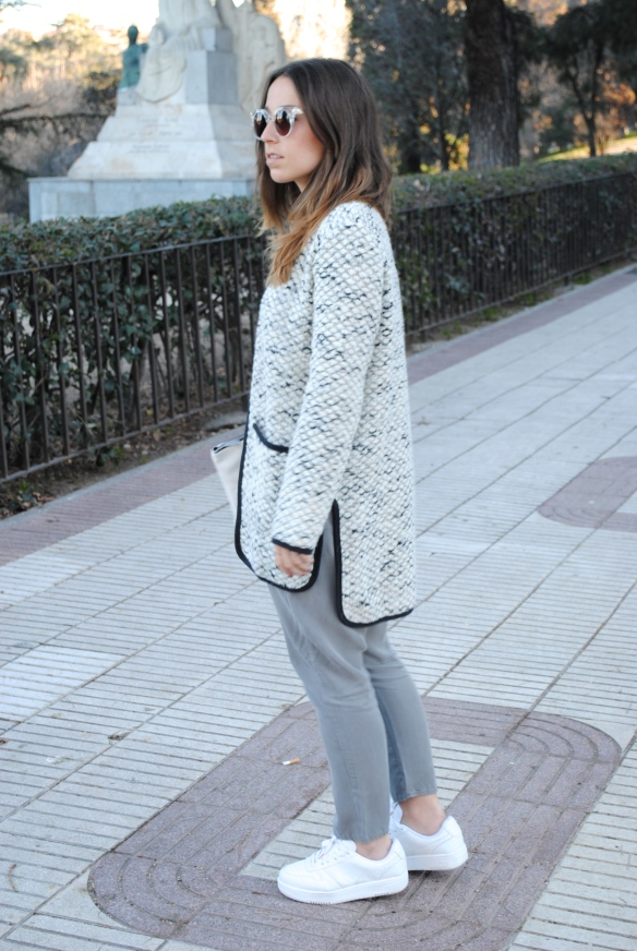look chaqueta tweed