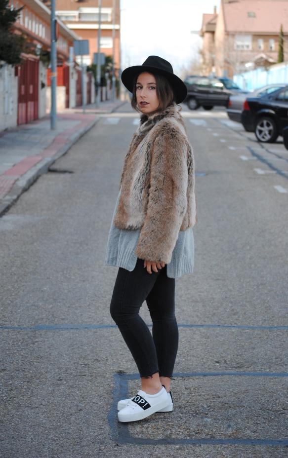 look abrigo de pelo