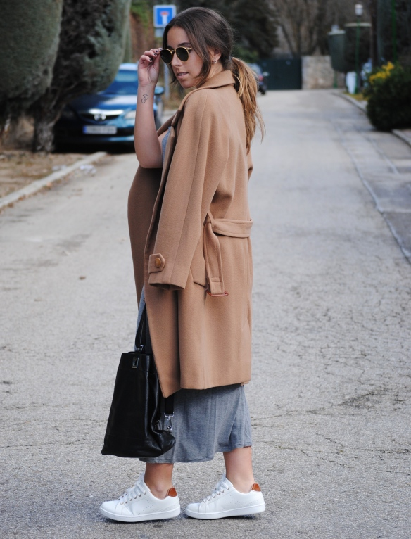 camel and grey combination