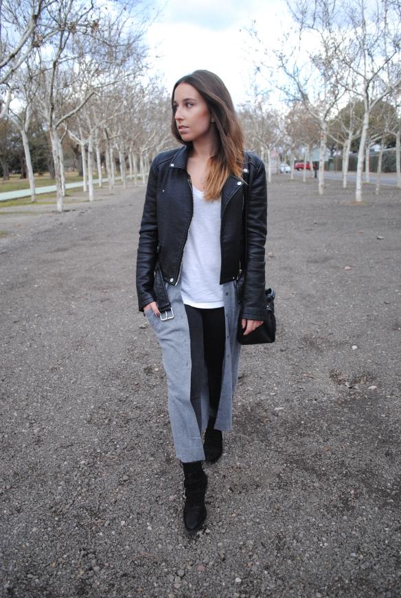 look gris y negro invierno