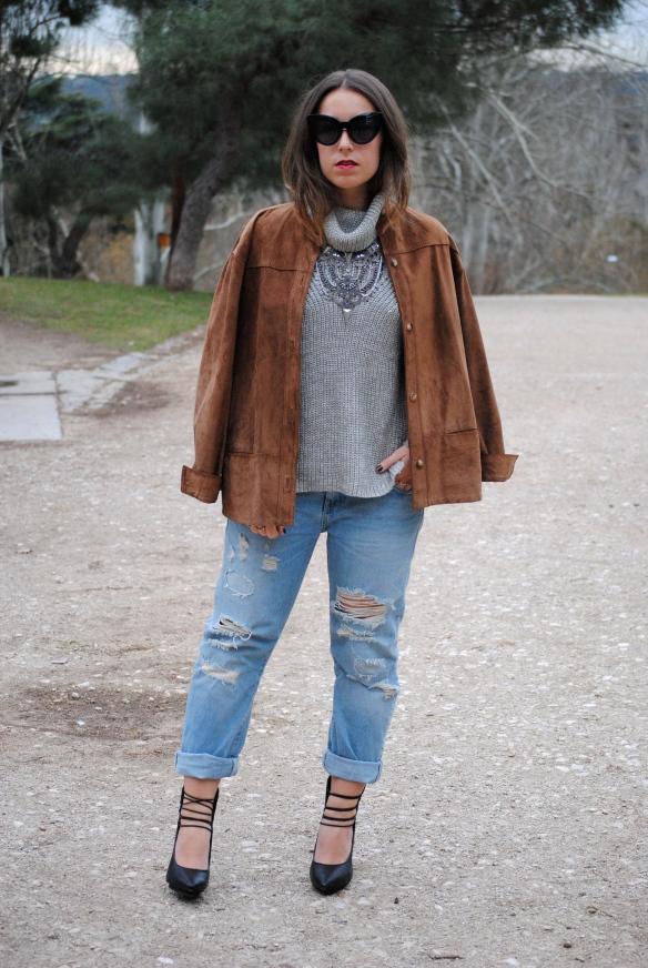 chaqueta ante marrón