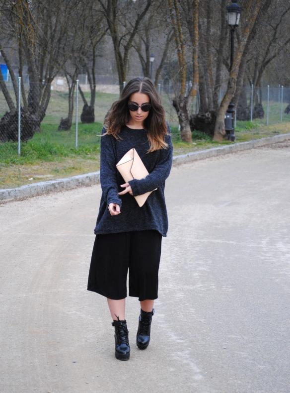look culottes negros