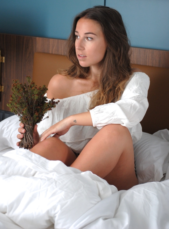 bed photoshoot