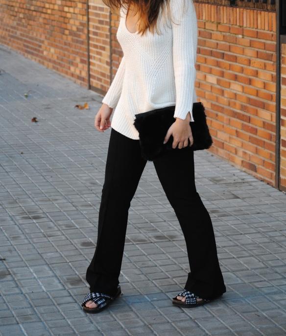 pantalones de campana negros