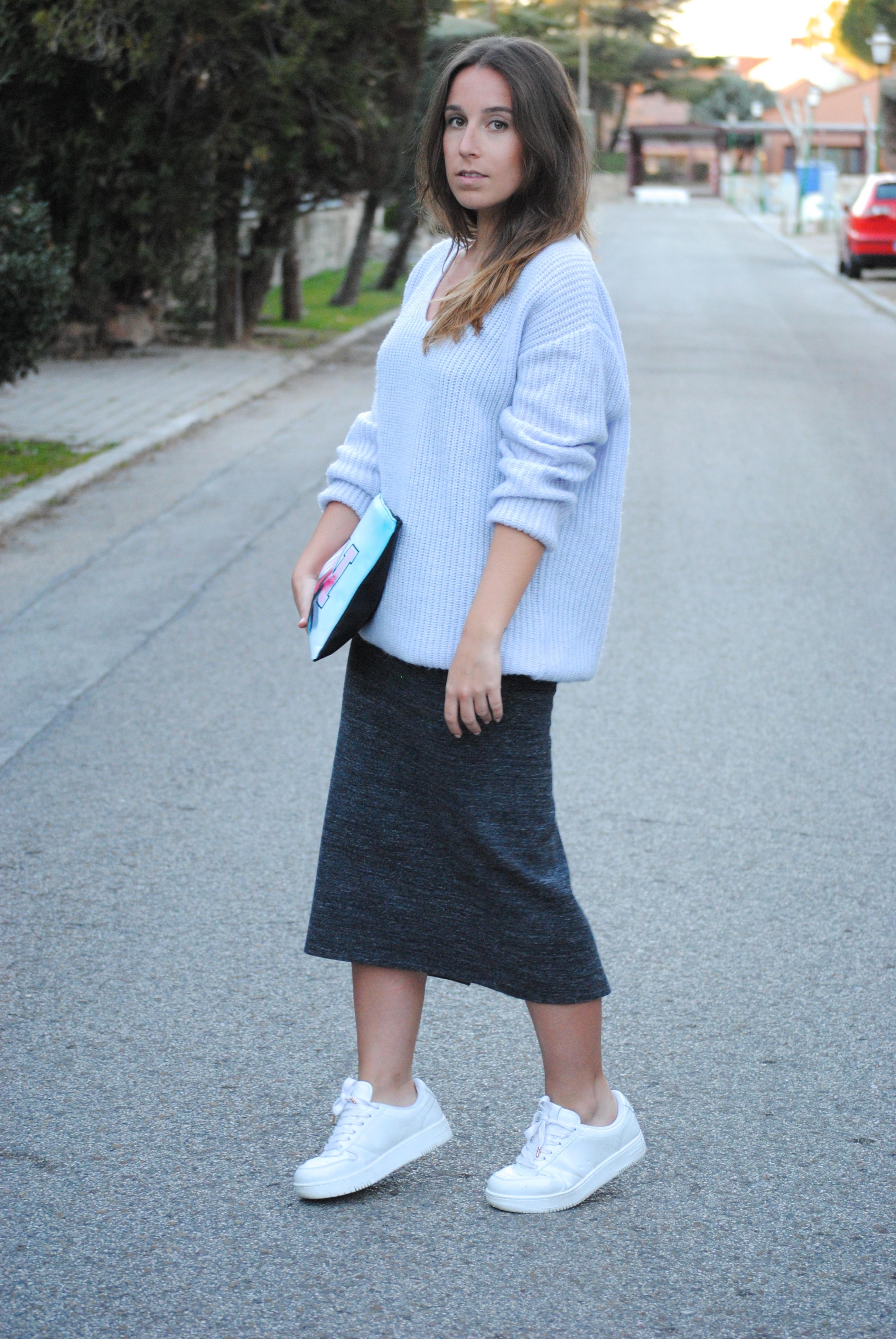look falda midi