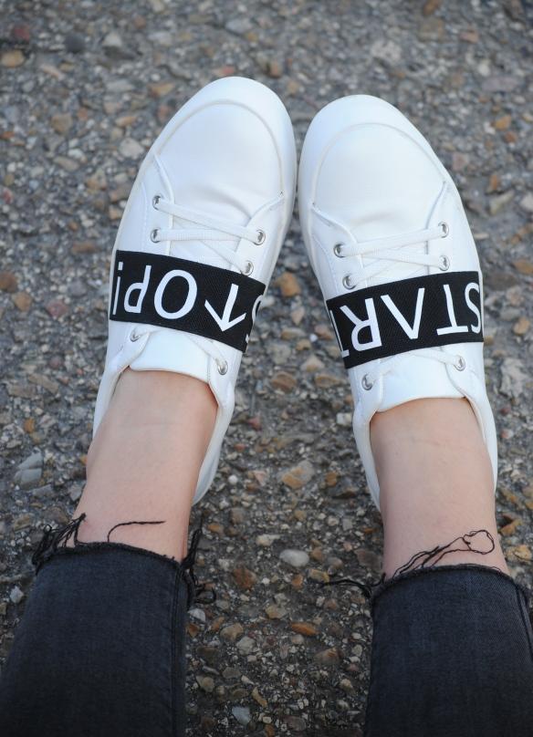 start stop zara sneakers