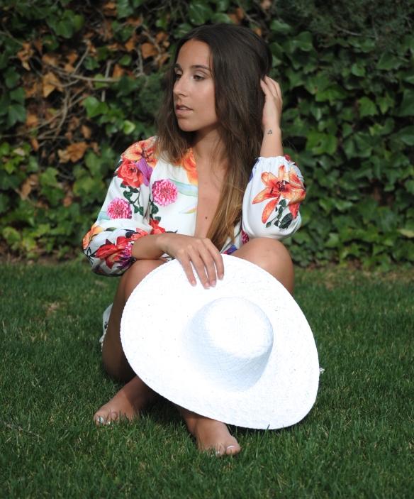 sombrero pamela blanco