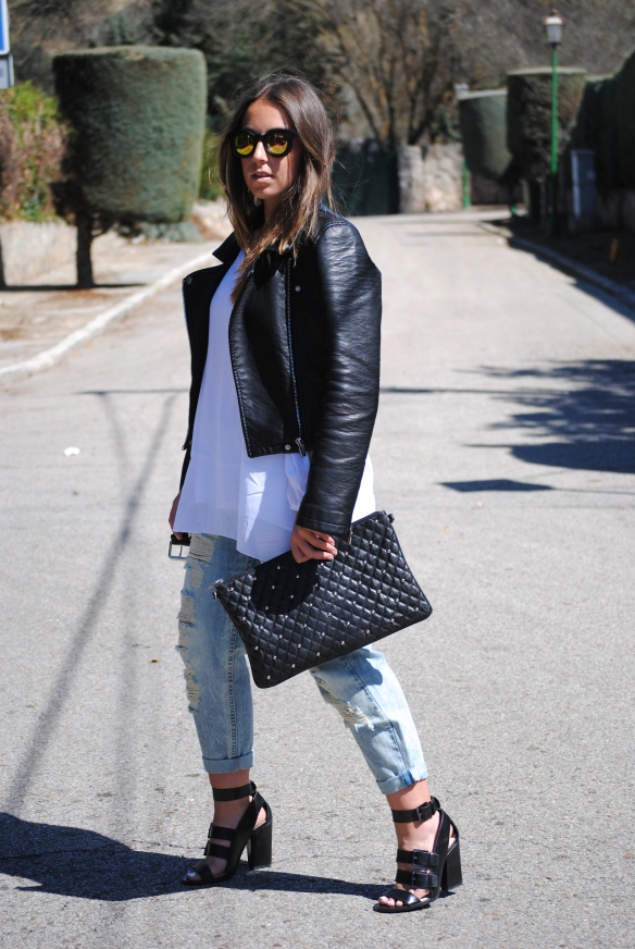 dress and jeans look