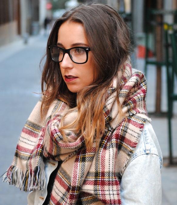 tartan big chunky scarf