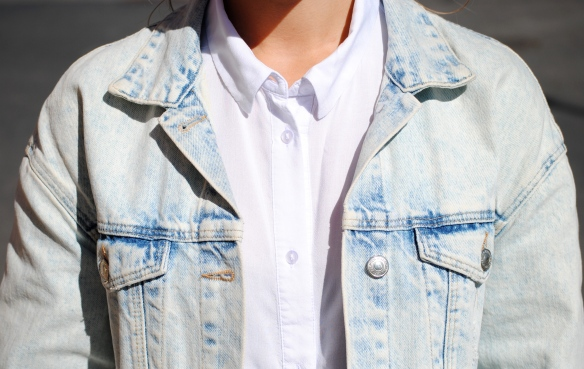 shirt and denim jacket