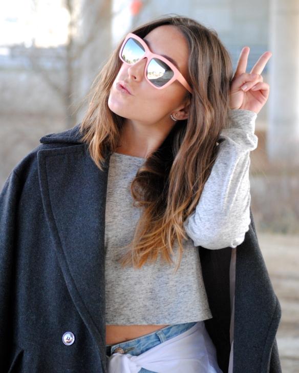 pastel pink sunglasses