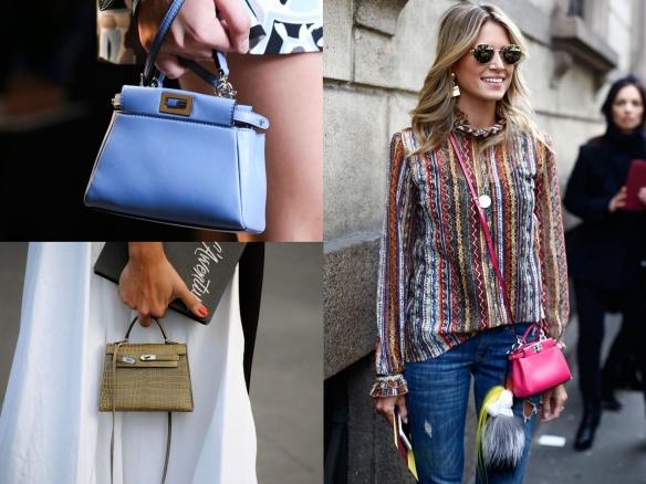 colorful mini bags