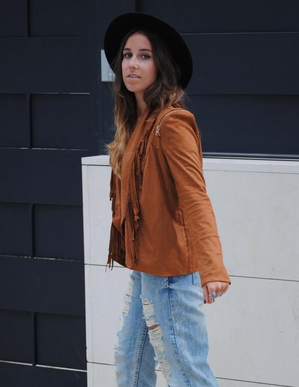 brown suede fringed jacket