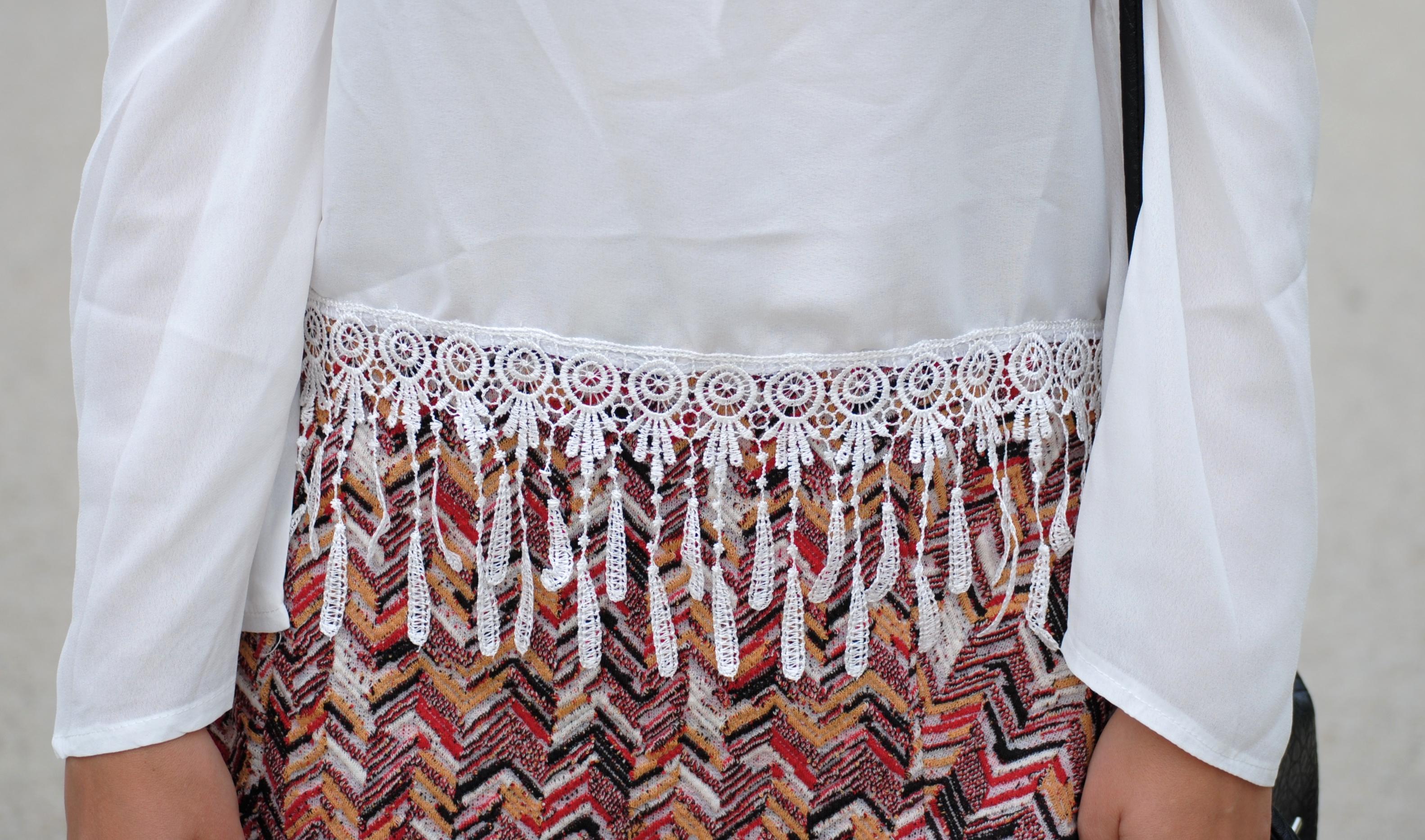 white tassel blouse