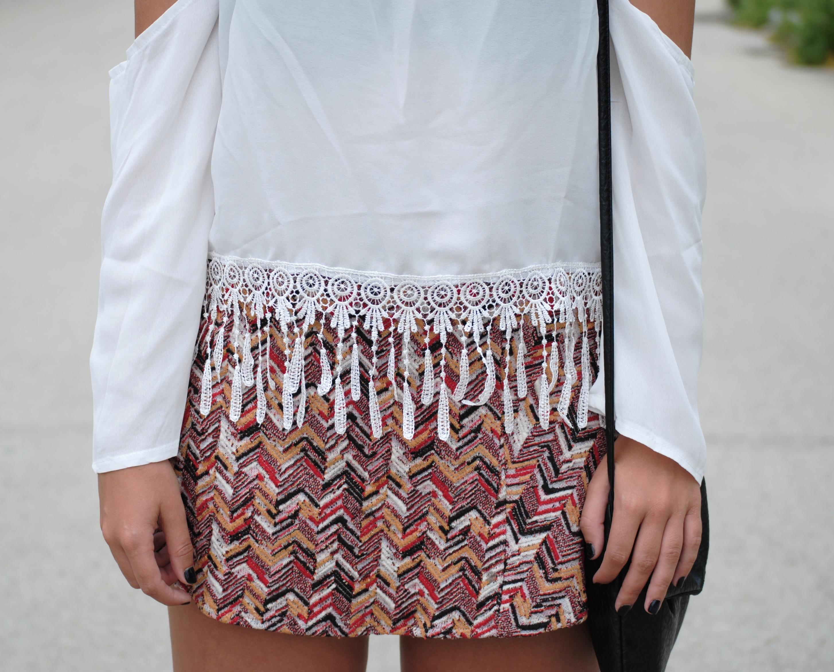 falda estampado azteca