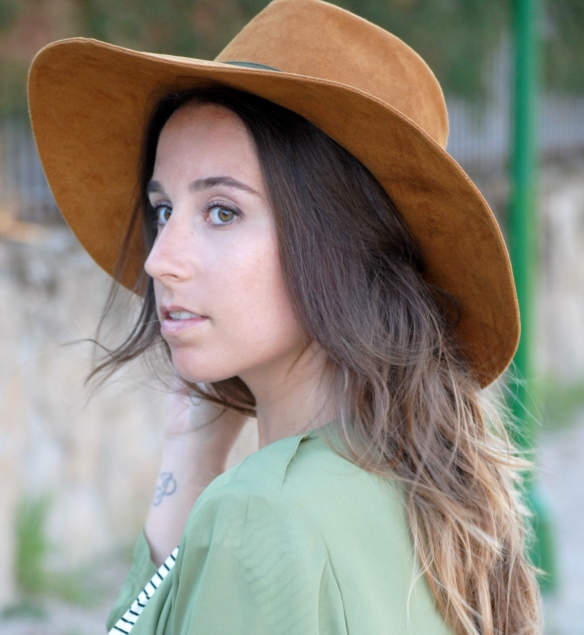 brown suede fedora hat