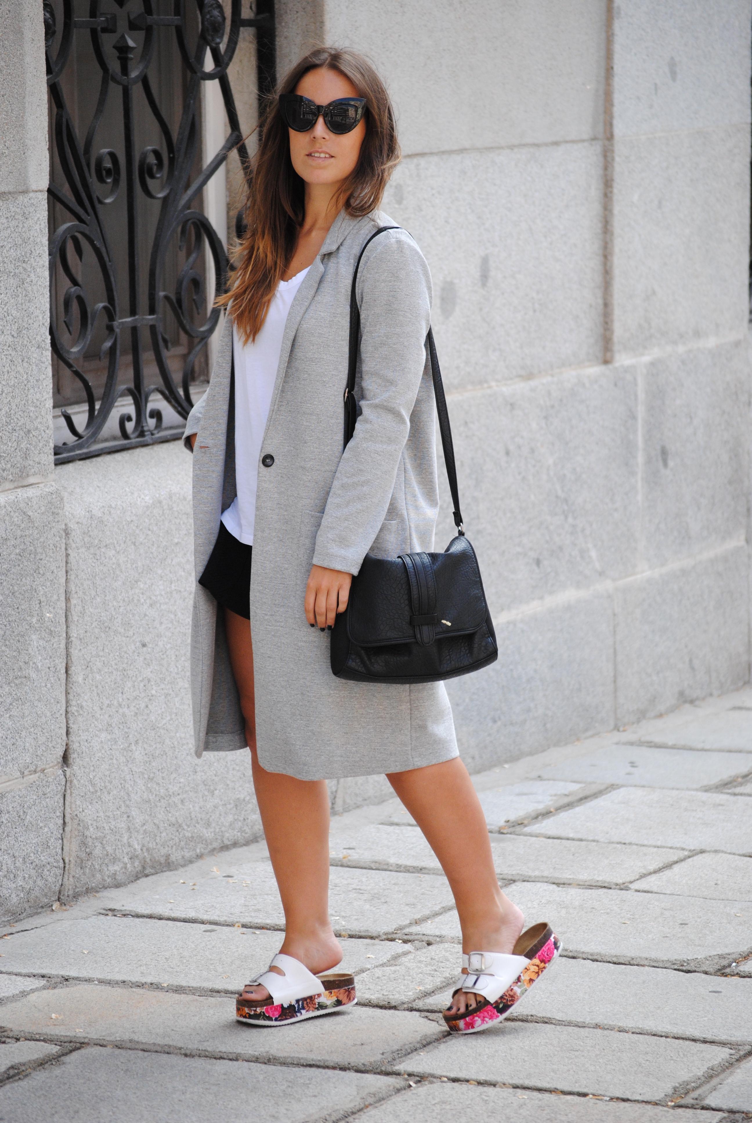 longline grey blazer
