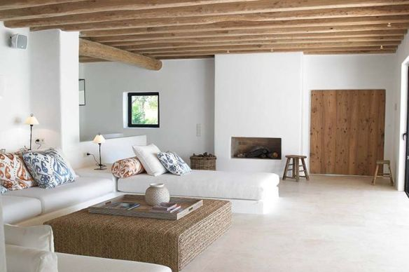 white and wood home deco