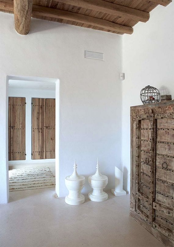 decoración blanco y madera