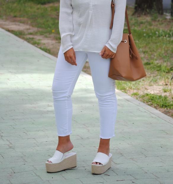 white flatform sandals
