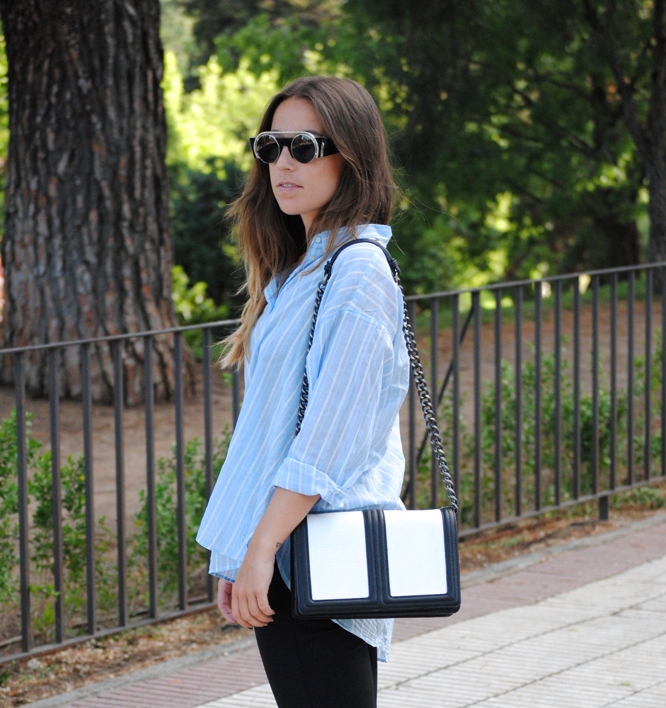 black and white monochrome bag