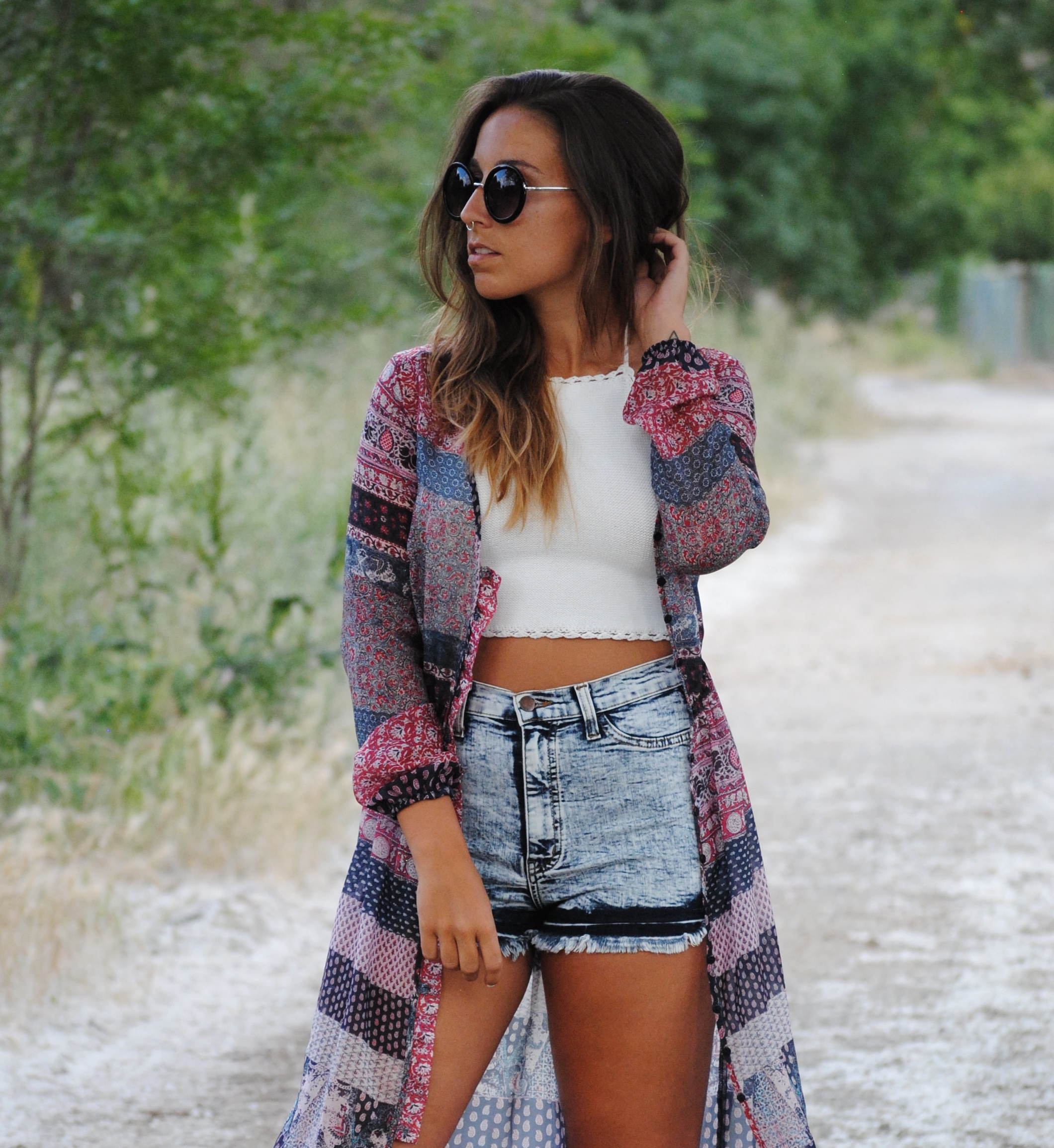 boho chic summer outfit