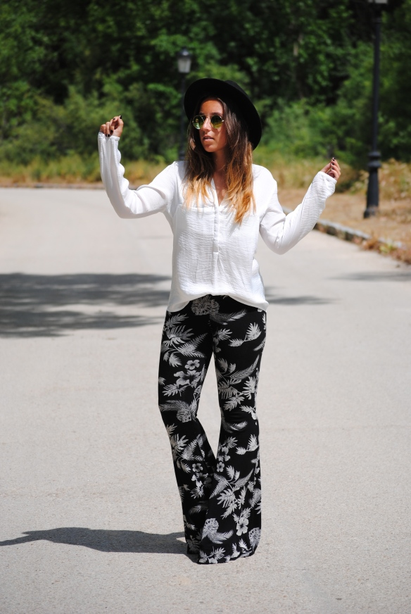 palm trees trousers