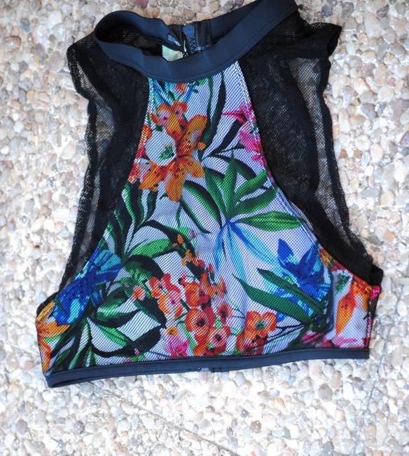 sporty mesh bikini top
