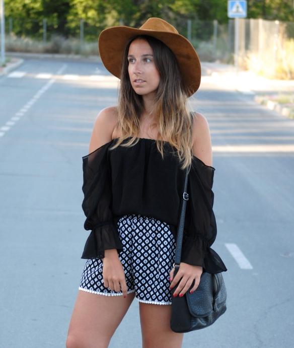 ethnic print shorts