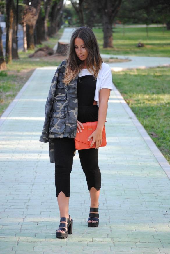 black overalls look