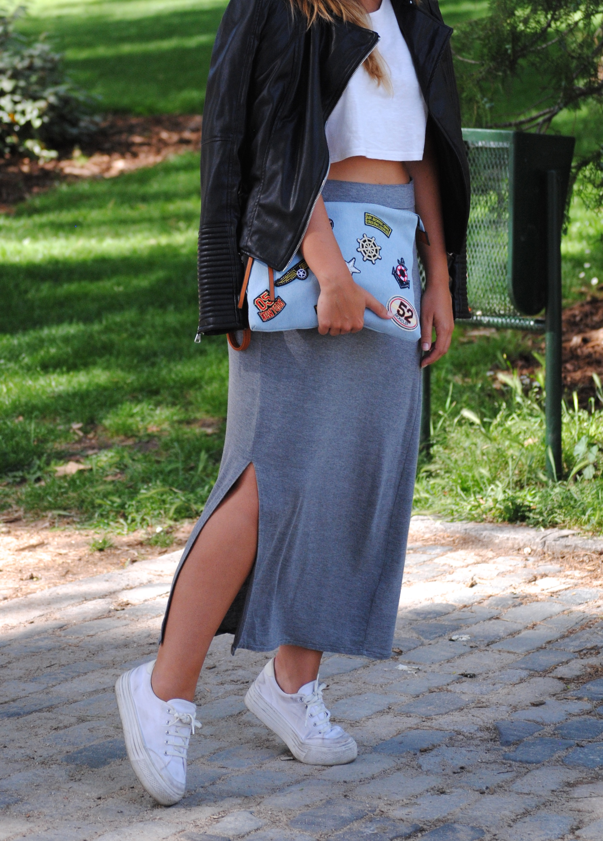 falda larga abertura lateral