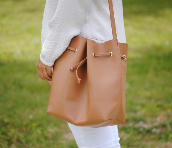 camel bucket bag