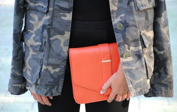 orange clutch bag