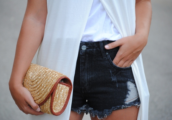 grey denim cut offs