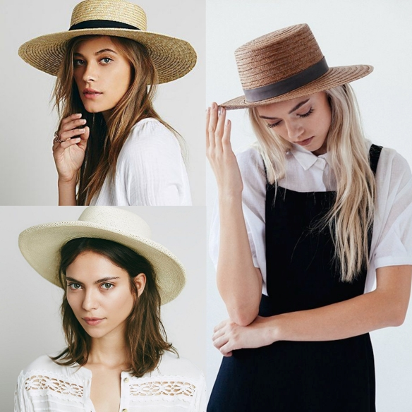 straw canotier  hat