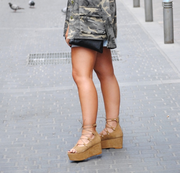 sandalias cordones plataforma