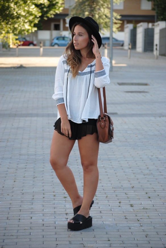 black micro shorts