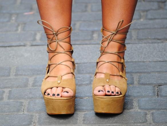 flatform lace up sandals