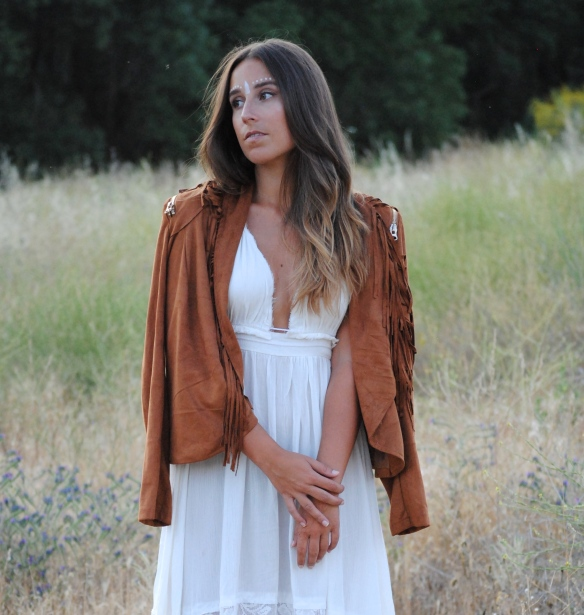 brown suede fringed jacket